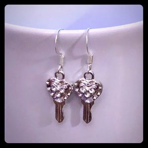 Rhinestone Key Earrings